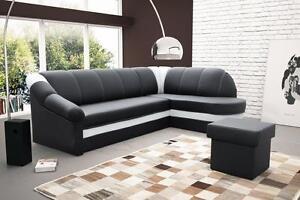 sofa couchgarnitur benamo federkern polesterecke mit schlaffunktion ebay