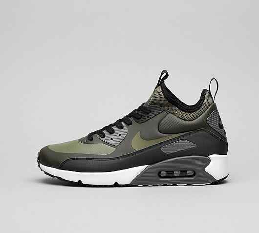 Nike air max max air 90 ultra - winter - sequoia / olive - schwarzen britischen größe 9,5 8ddb73