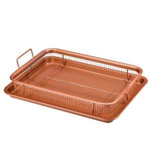 Copper Crisper 2 Piece Set Non Stick Oven Mesh Chips
