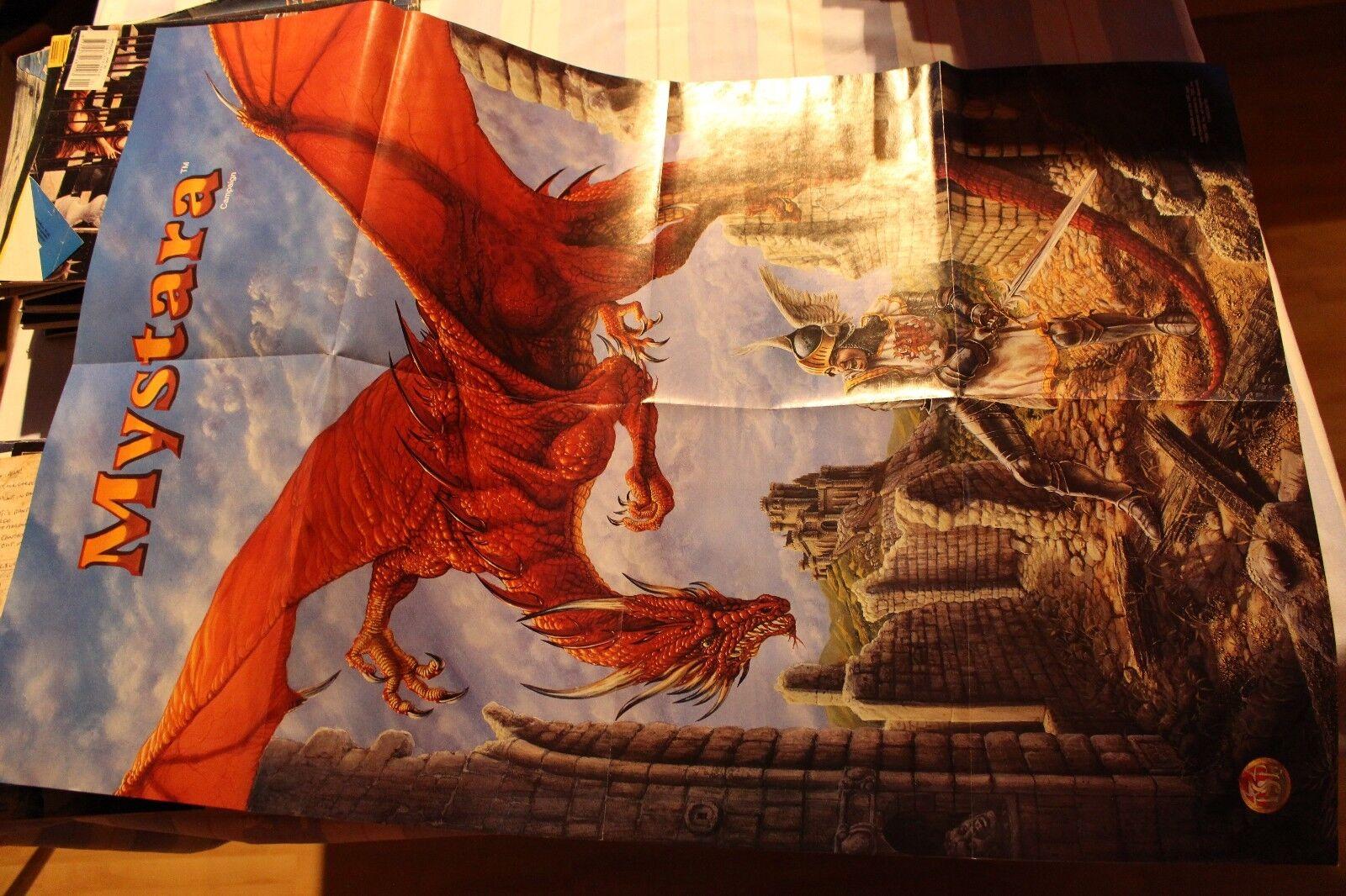 Mystara 1994 poster wyrm advanced dungeons & dragons zustand schatten über
