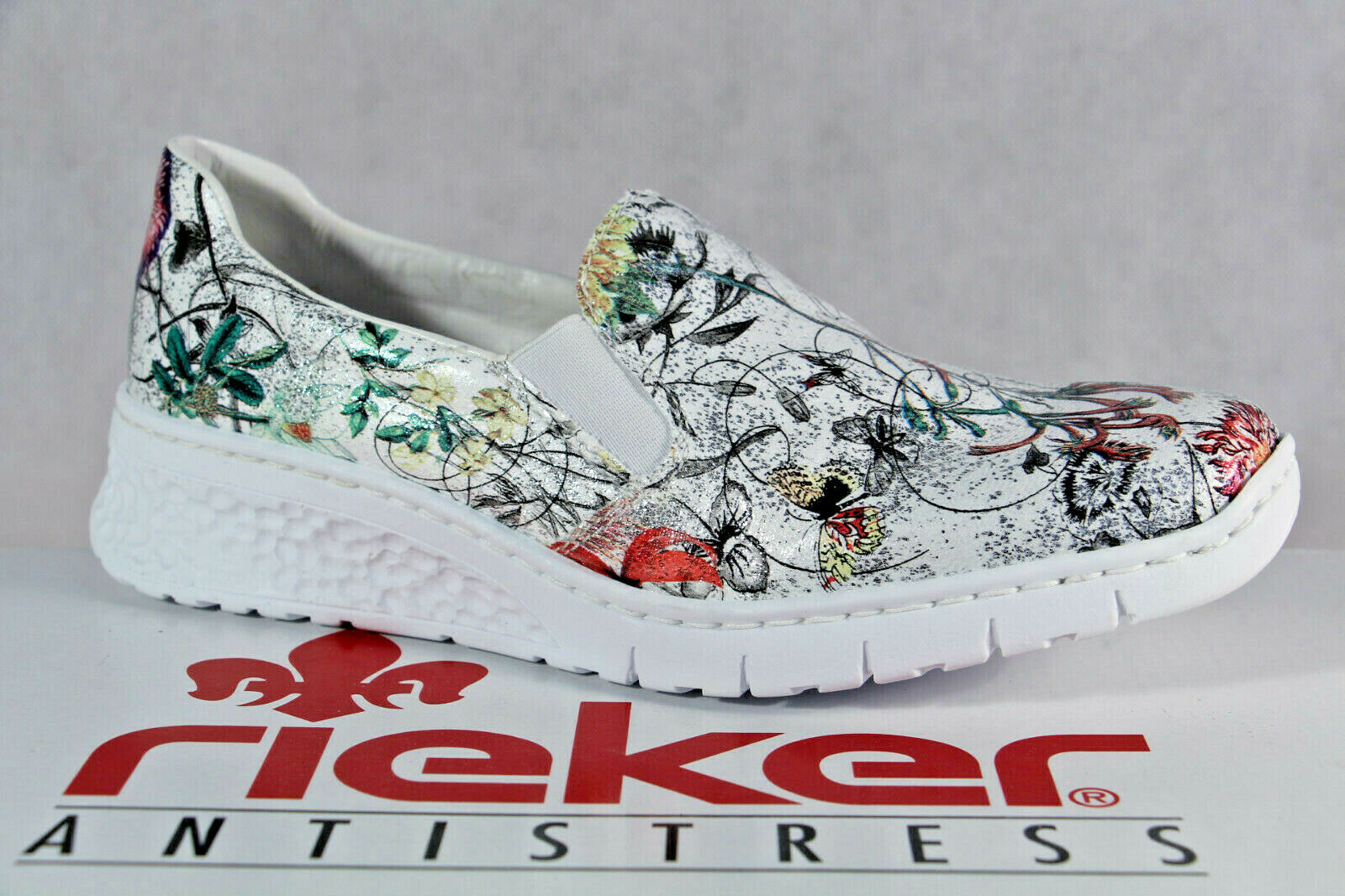 Rieker Pantofola Scarpe da Ginnastica Basse Ballerina MultiColoreeeeee 58166 Nuovo