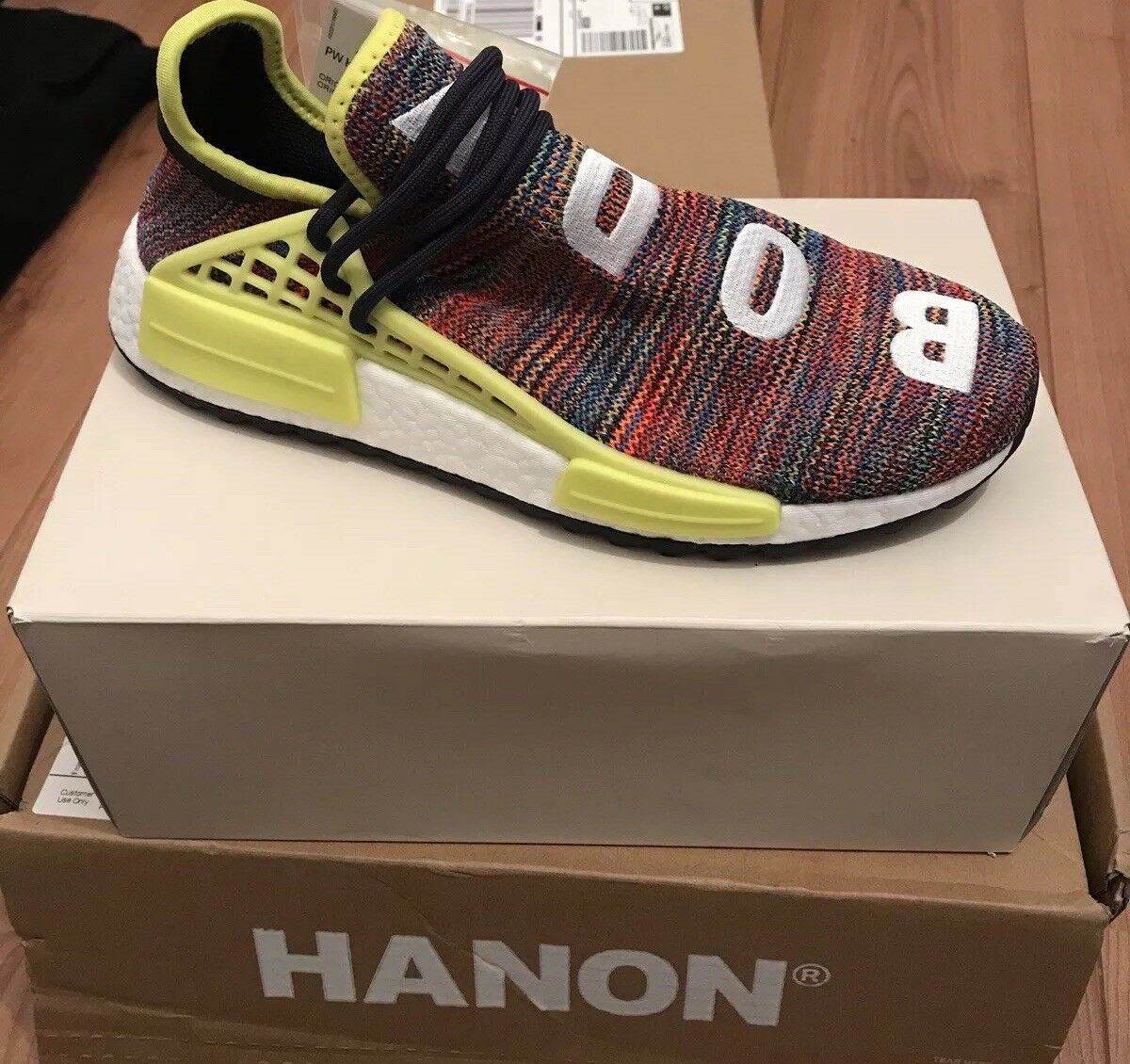 Adidas X Pharrell Williams Hu NMD _ TR Multi Colour size 8 UK Human Race NMD