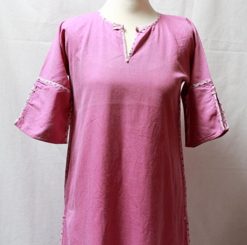 Ensemble vintage robe caftan et gilet Suzon Dejardin t. 36   38