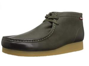 Clarks Stinson Hi Men's Dark Olive Leather Chukka Boots 26138454