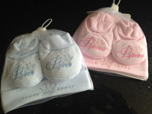 HAT /& BOOTIE SET NEW BORN BABY BOY /& GIRL GIFT SETS SOFT TOUCH 100/% COTTON