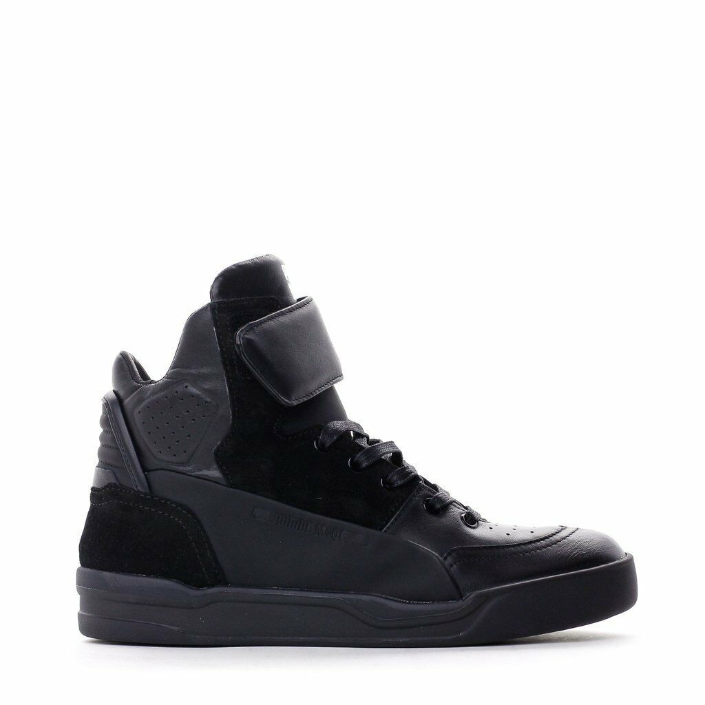 Puma x Alexander McQueen MCQ Move Mid Noir Chaussures Sneaker Homme Leather 361484-01