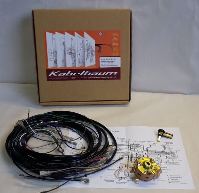 Kabelbaum Kabelsatz Schaltplan Zündschloss pass. für Simson S50 S51 S70 komplett