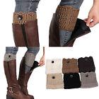 Women Winter Leg Warmers Button Crochet Knit Boot Socks Toppers Cuffs Fancy