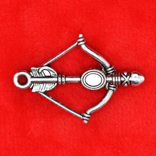 8 X Plata Tibetana Arco Y Flecha encanto colgante encontrar grano de la fabricación de joyas