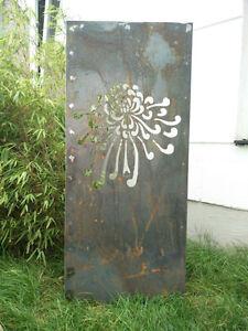 Garten Sichtschutz Wand aus Corten Stahl Sichtschutzwand Metall 117 ...