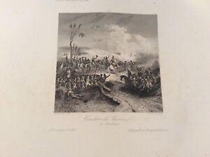 Gravure ancienne - Combar de Varoux - Empire Napoleon.