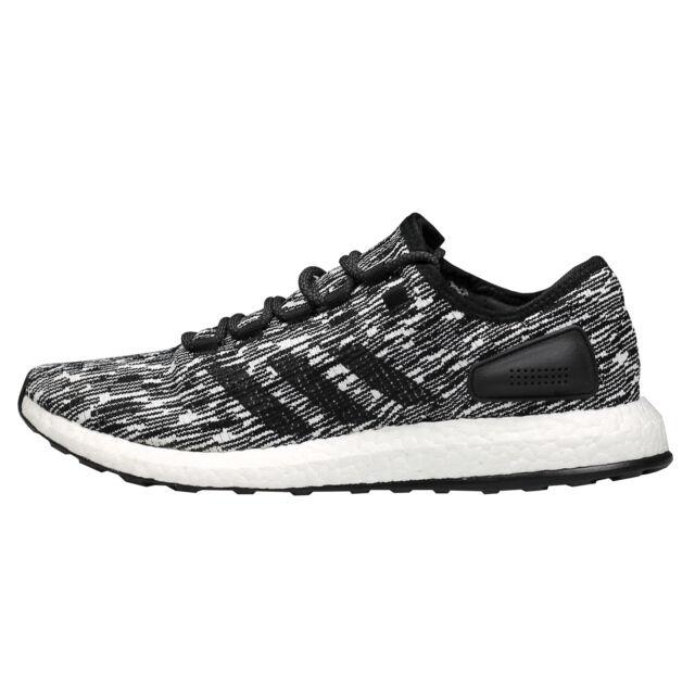04067dbfd adidas Men s Size 13 Pureboost Running Shoes in Black white Bb6280 ...