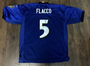 Details about Retro Reebok Joe Flacco Baltimore Ravens Purple Stitched/Sewn Jersey Size 56