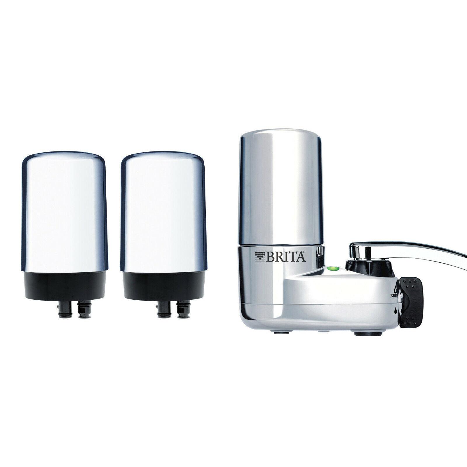 BRITA  1 Robinet Montage De Filtration D'eau Système Chrome 3-Filtres Haute Qualité Neuf
