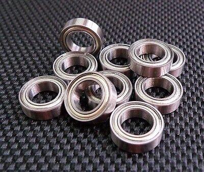 10pcs 10 x 15 x 4mm modèle sealed Metal Blinded roulement à billes