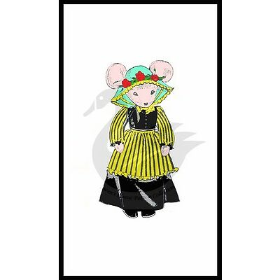 """Reproduction Country Mouse Sewing Pattern 18"""" D7154"""