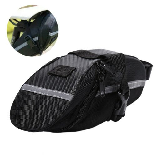 Reflective Bike Saddle Bag Cycling Seat Pouch Bicycle Tail Bags Rear Pannier