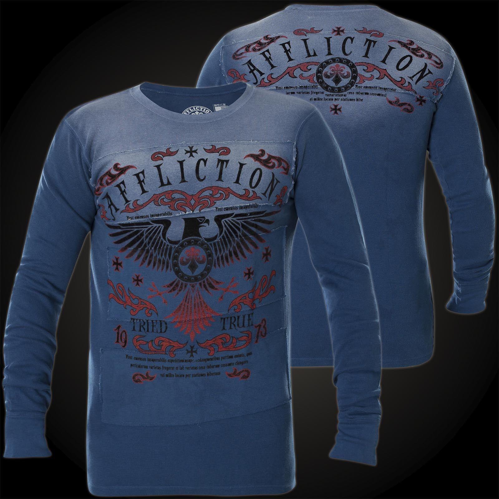 AFFLICTION Pullover Tried Eagle Blau Sweatshirts