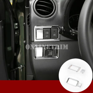 ABS-Chrome-Fog-Light-amp-Rearview-Mirror-Switch-Cover-For-Suzuki-Jimny-2007-2017