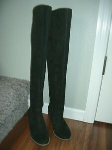Black Nubuck Suede Over the knee Boots