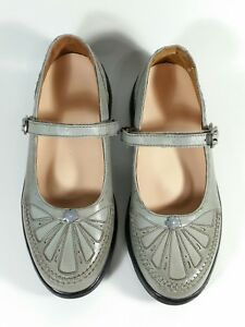 Dr-Comfort-Paradise-Mary-Jane-Leather-Gray-Diabetic-Women-039-s-Shoe-Size-7-Med