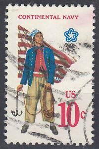 USA-Briefmarke-gestempelt-10c-Continental-Navy-1668