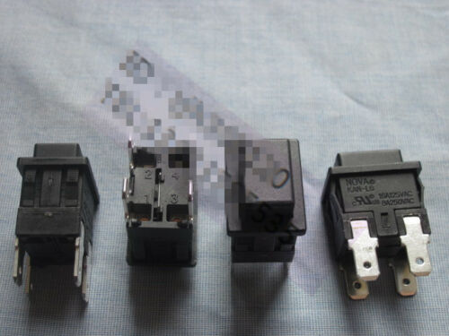 1PC NOVA KAN-L6 Power On Off Switch Pushbutton 4 Pin 16//8A 125//250VAC #V3724 CH