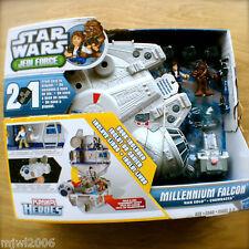 STAR WARS Jedi Force MILLENNIUM FALCON HAN SOLO CHEWBACCA PLAYSKOOLHEROES Hasbro