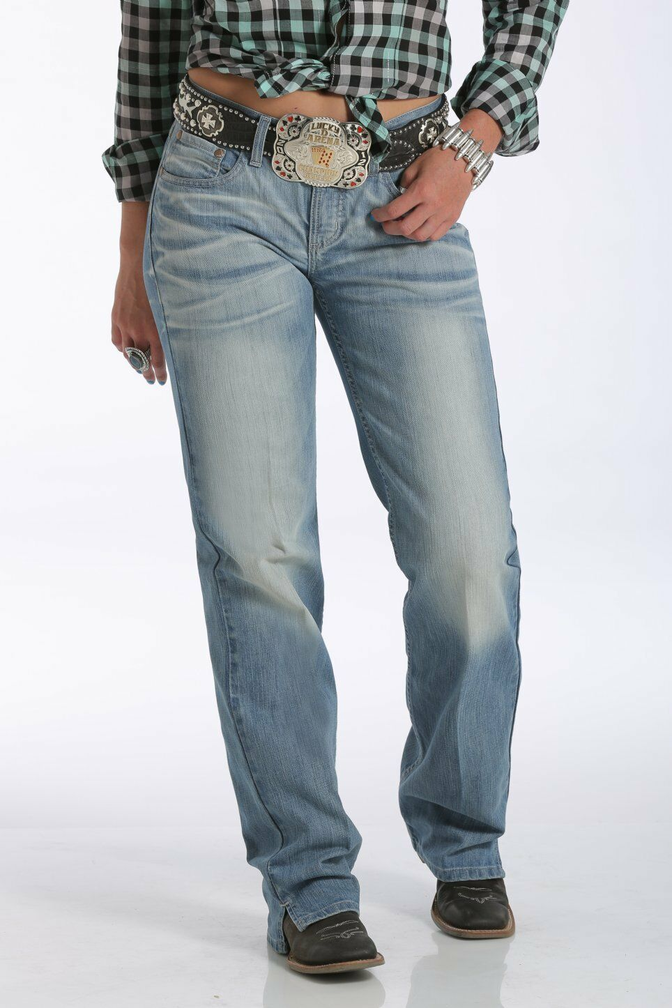 CRUEL GIRL Women's Georgia Relaxed Fit Mid Rise Boot Cut Jeans CB54752002 NWT