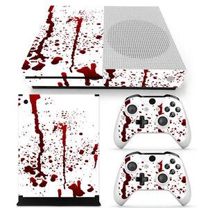 Details About Xbox One S Skin Design Foils Sticker Screen Protector Set Blood Motif