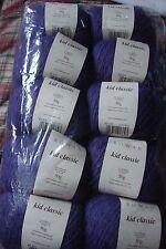 ROWAN YARNS KID CLASSIC Knitting Wool 835 Purple Lot 5CI ~ 10x50g Balls 500g