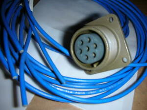 ITT Cannon CA3102E16S-1S Connector MA101432F002 7-Pin Female Wired and Coded NOS