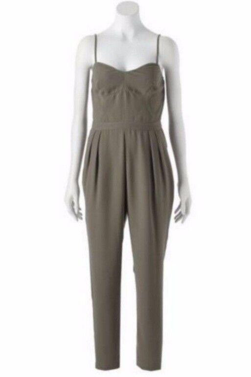 Jennifer Lopez JLo Olive Haute Couture Tropics Jumpsuit Romper Size 6