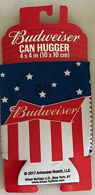 2-Pack Budweiser Lot Logo Can Koozies Coozies Hugger Beer Soda Cooler Set of Two
