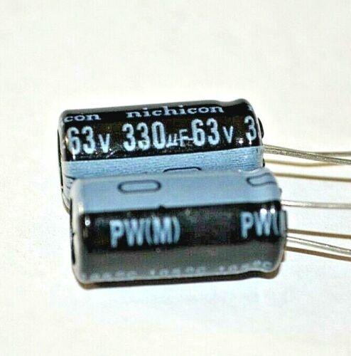 2Pcs 10X20mm 330uf 63V  105C
