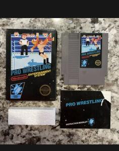 Pro Wrestling (Nintendo NES) CIB COMPLETE IN BOX BLACK LABEL