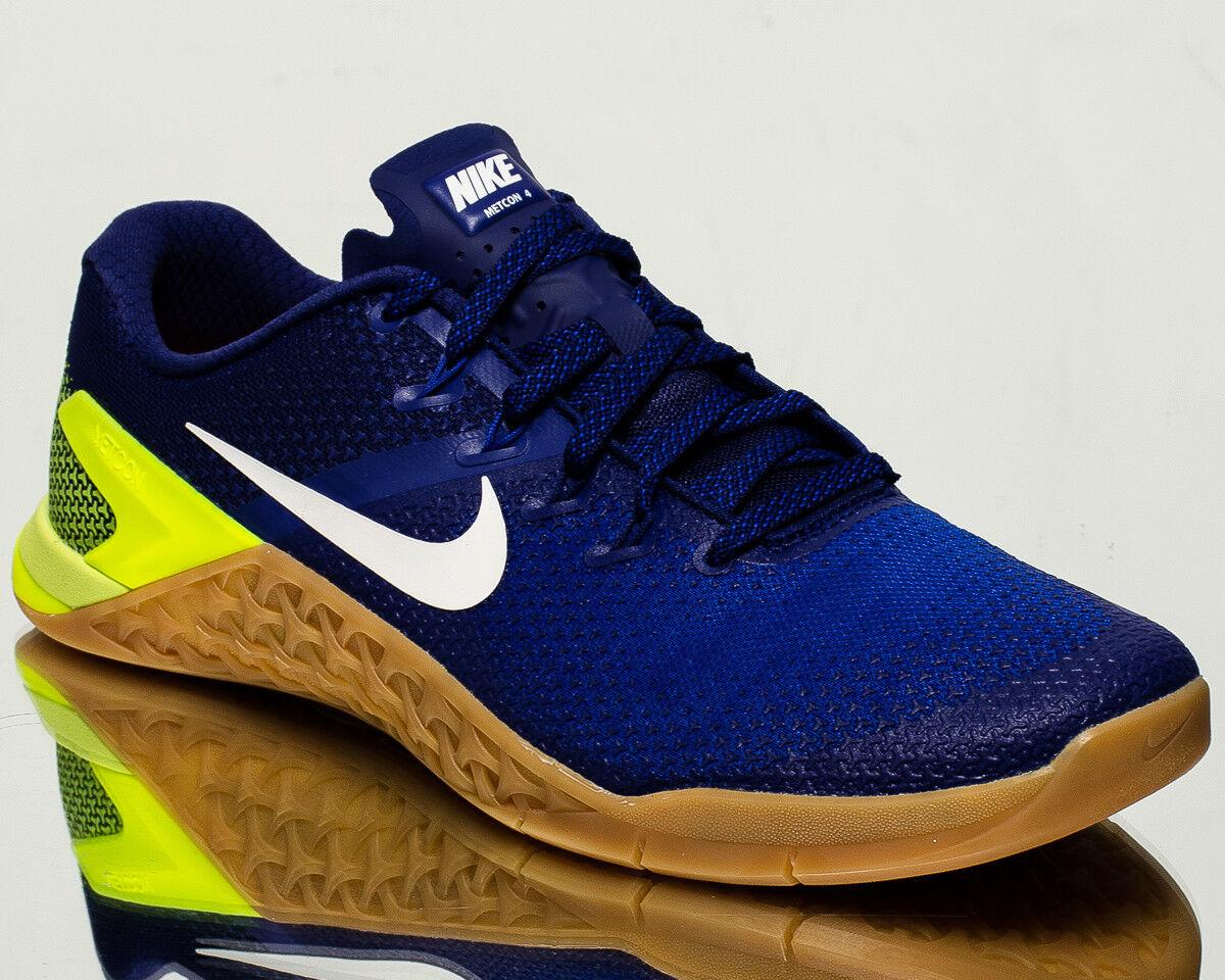 Nike Metcon 4 IV Hommes training train gym  crossfit NEW racer Bleu  gym Blanc AH7453-701 6fcb19