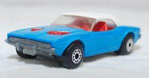 MATCHBOX SUPERFAST - R-001C VER 5, DODGE CHALLENGER, BLUE, UNP BASE JB1385