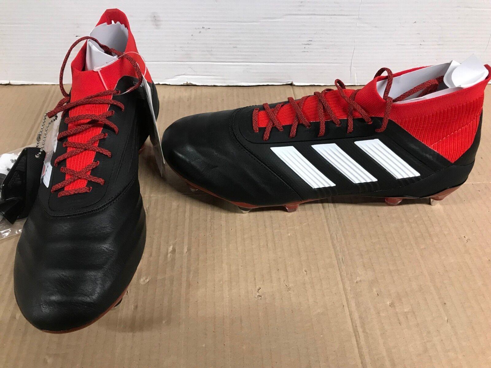 264884cda893 adidas Predator 18.1 SG Le Football BOOTS Black Red Sock UK 8.5 EUR ...
