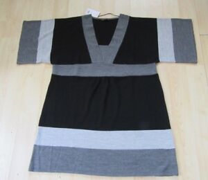 EVANS-BLACK-GREY-SHORT-SLEEVE-DRESS-TUNIC-SIZE-20-ACRYLIC-NEW-WITH-TAGS