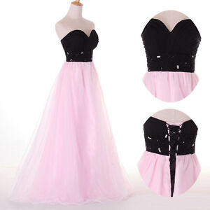 Sweetheart-Tulle-Bridesmaid-Cocktail-Party-Ball-Gown-Prom-Evening-Long-Dresses-039