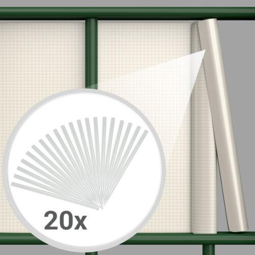 PVC Brise Bandes Vue Film Protection Doppelstab nattes clôture 70 m de buis