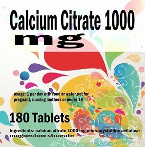 Calcium-Citrate-1000-MG-180-Comprimes