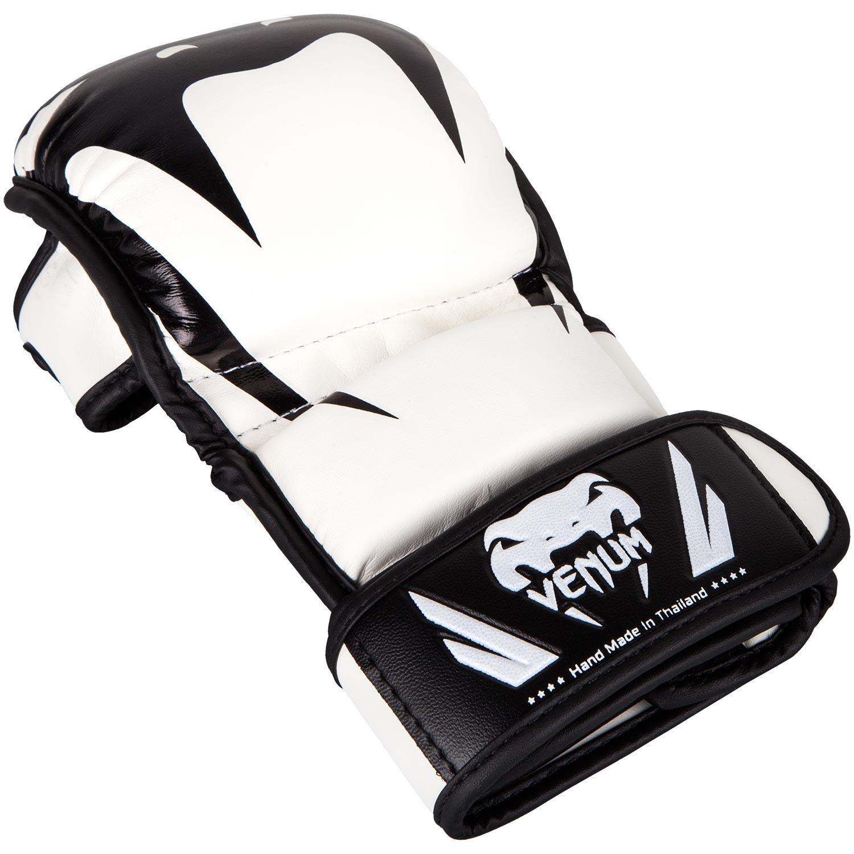 Venum Impact MMA Arts Gloves Martial Arts MMA Fight Sparring Weiß Semi Leder  Herren 82fa1d