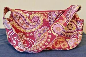 Vera-Bradley-Shoulder-Hobo-Bag-Pocketbook-Retired-Raspberry-Fizz-FREE-SHIPPING