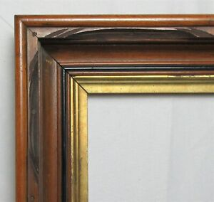 "Antique Fits 8"" x 10"" Eastlake Gold Gilt Carved  Picture Frame Country Victorian"