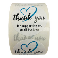 500 Teal Amp Black Thank You For Supporting My Small Business Mailing Label