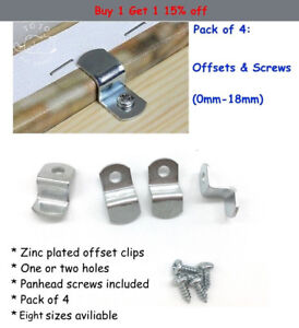 100x Meal Offset Mounting Canvas Z Clips for Photo Picture Framing Supplies
