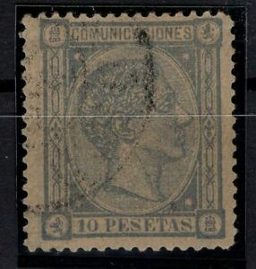 P130467-SPAIN-STAMP-Y-amp-T-162-USED-CERTIFICATE-CV-1870