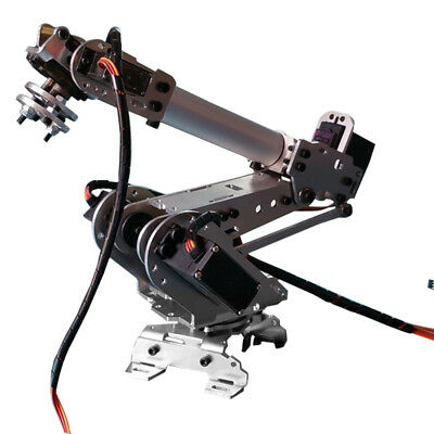 6-Axis Stainless Steel Robot Arm Metal Robotic Manipulator with Servos